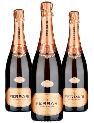 Ferrari Perlé Rosé • Trentodoc • 3 bottiglie • SPEDIZIONE GRATUITA
