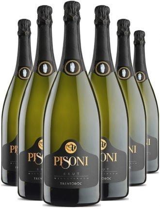 Pisoni Brut Millesimato • Trentodoc • 6 bottiglie • SPEDIZIONE GRATUITA