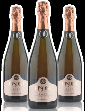 Pisoni Brut Rosè Millesimato • Trentodoc • 3 bottiglie • SPEDIZIONE GRATUITA