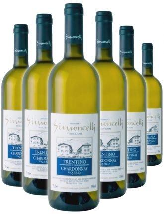 Trentino Chardonnay D.O.C. • Simoncelli • 6 bottiglie • SPEDIZIONE GRATUITA