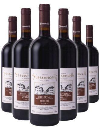 Trentino Merlot D.O.C. • Simoncelli • 6 bottiglie • SPEDIZIONE GRATUITA