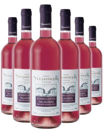Schiava Gentile Vallagarina I.G.T. • Simoncelli • 6 bottiglie • SPEDIZIONE GRATUITA