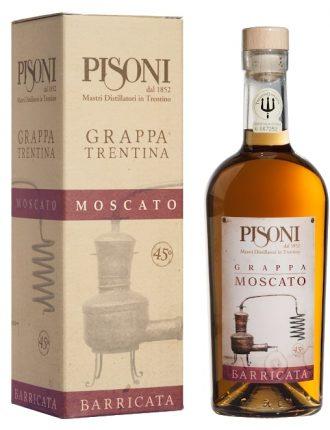 Grappa Moscato Barricata • Pisoni • 70cl • SPEDIZIONE GRATUITA