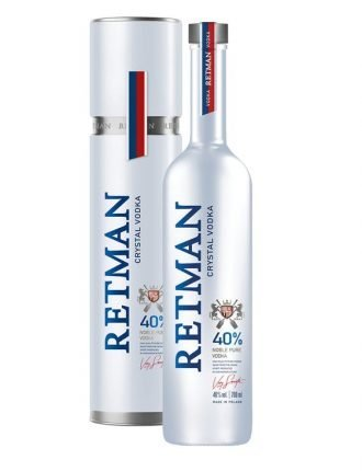 Vodka Retman Crystal • Torunskie Wodki Gatunkowe • Polonia • 70cl • SPEDIZIONE GRATUITA