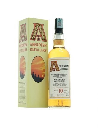 Whisky Aberdeen • Auchroisk Distillery • Single Malt Scotch Whisky • Aged 10 years • Cask #17 • 2008 • 70cl • SPEDIZIONE GRATUITA
