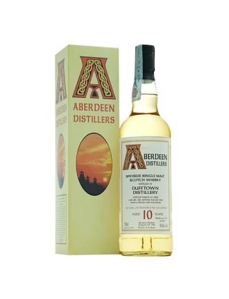 Whisky Aberdeen • Dufftown Distillery • Single Malt Scotch Whisky • Aged 10 years • Cask #100 • 2008 • 70cl • SPEDIZIONE GRATUITA