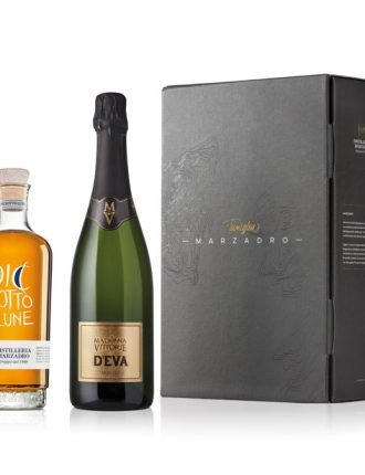 Grappa Diciotto Lune & Spumante D'Eva Moscato • Gift Box • Marzadro & Madonna delle Vittorie • Trentino • 50cl + 75cl