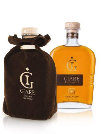 Grappa Giare Amarone invecchiata 3 anni, in elegante velluto • Marzadro • 70cl • SPEDIZIONE GRATUITA