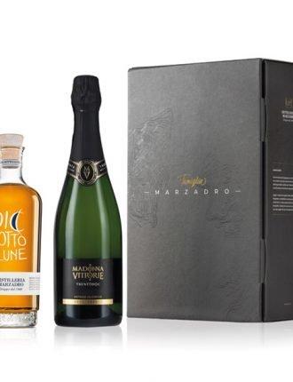 Grappa Diciotto Lune & Trentodoc • Gift Box • Marzadro & Madonna delle Vittorie • Trentino • 50cl + 75cl