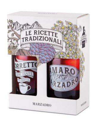 Amaro Marzadro alle erbe di montagna & Liquore al Caffè in grappa trentina barricata • 2x50cl • SPEDIZIONE GRATUITA