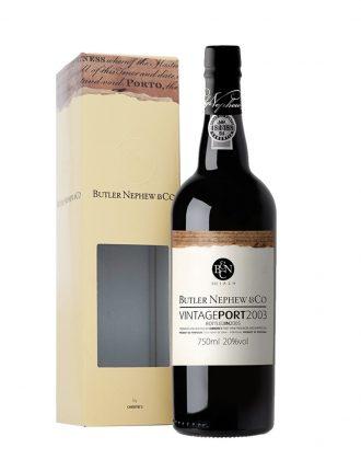 Porto Butler Nephew Vintage • Christie'S Port Wine • Portogallo • 2003 • 75cl • SPEDIZIONE GRATUITA